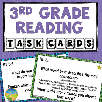 3rd Grade Reading Comprehension Common Core Task Cards