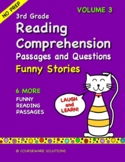 3rd Grade Reading Comprehension - Funny Stories Volume 3