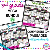 3rd Grade Reading Comprehension MEGA Bundle - Printable &