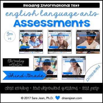 3rd Grade • Reading Comprehension Passages and Questions • RL I & II • Bundle