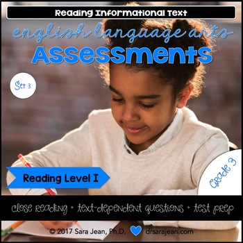 3rd Grade • Reading Comprehension Passages and Questions • RL I • Set 3