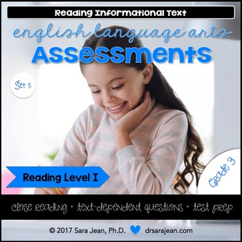 3rd Grade • Reading Comprehension Passages & Questions • Reading Level I • Set 5