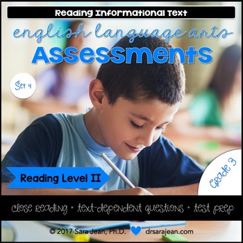 3rd Grade • Reading Comprehension Passages and Questions • RL II • Set 4