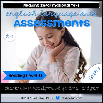 3rd Grade • Reading Comprehension Passages and Questions • RL II • Set 5