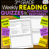 3rd Grade Reading Comprehension Quizzes & Constructed Response Practice