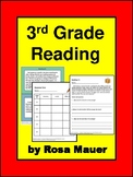 Reading  Comprehension 3rd Grade Passages