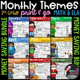 3rd Grade Reading Comprehension and Math Skill Pages