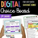 3rd Grade Reading Digital Choice Board | Google Slides | Distance Learning