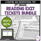 3rd Grade Reading Exit Tickets Bundle | Digital and Print