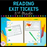 3rd Grade Reading Exit Tickets with Google Forms for Distance Learning
