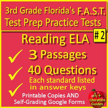 Reading Fsa Test Prep 3rd Grade Reading Practice Tests 2019 Fsa
