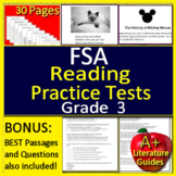 3rd Grade FSA Test Prep Reading Practice Tests - Print AND Paperless!