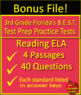 3rd Grade FSA Reading Test Prep Practice Sets - Print and Paperless!