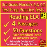 3rd Grade FSA Test Prep Reading Practice Tests - 2019 FSA Test Style
