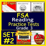3rd Grade FSA Reading Test Prep Practice Sets, Print and Paperless, 2019 Format