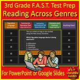 3rd Grade FSA Reading Test Prep Vocabulary Review Game LAFS.3.RL.2.4;  3.RI.2.4