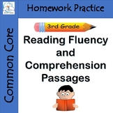 3rd Grade Reading Fluency and Comprehension Passages Homew