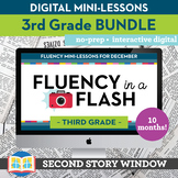 3rd Grade Reading Fluency in a Flash GROWING Bundle • Digital Mini Lessons
