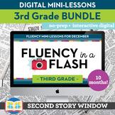 3rd Grade Reading Fluency in a Flash Bundle • Digital Mini Lessons