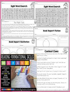 3rd Grade Reading: Foundational Skills Packet