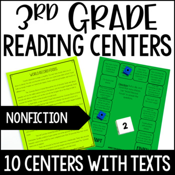 3rd Grade Reading Games | 10 NonFiction Reading Centers