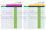 3rd Grade Reading Goals Tracking Chart Bundle – Fountas and Pinnell Levels