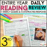 3rd Grade Reading Homework | Reading Comprehension Passages & Questions BUNDLE