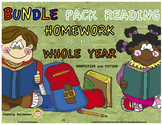 3rd Grade Reading Homework for the YEAR - BUNDLE PACK Nonf
