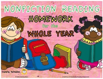 3rd Grade Reading Homework for the YEAR - Nonfiction, Informational