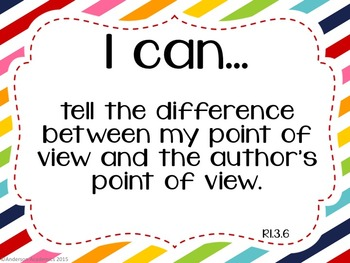 "3rd Grade ""I Can"" Statements: Reading - Rainbow"