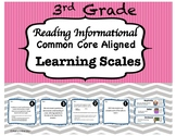3rd Grade Reading Informational Learning Scales-Common Cor