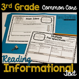 3rd Grade Reading Informational Text Graphic Organizers fo