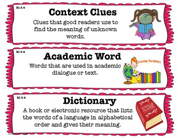 3rd Grade Reading Informational Vocabulary Cards-Common Core Aligned