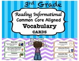 3rd Grade Reading Informational Vocabulary Cards-Common Co