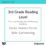 3rd Grade Reading Level: Long Passage with Skill Building