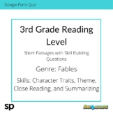 3rd Grade Reading Level: Short Passages with Skill Buildin