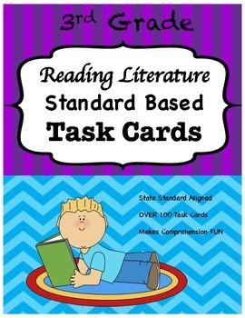 3rd Grade Reading Literature Task Cards-Common Core Aligned