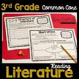 3rd Grade Reading Literature Graphic Organizers for Common Core