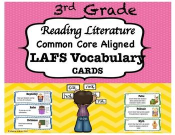 3rd Grade Reading Literature LAFS Vocabulary Cards