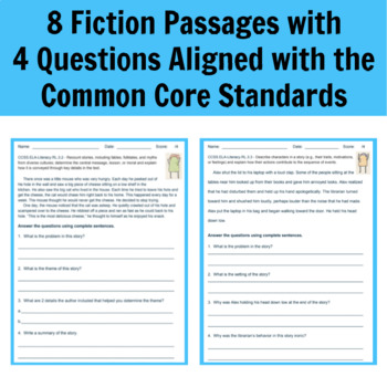 3rd Grade Reading Literature Standard Assessments