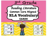 3rd Grade Reading Literature Vocabulary Cards-Common Core Aligned
