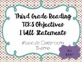 3rd Grade Reading Objectives TEKS based. #toocute Classroom Themed