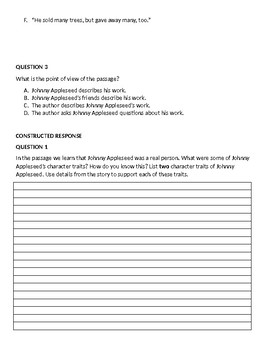 3rd Grade Reading PARCC/AIR Practice #7