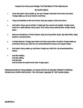 3rd Grade Reading PARCC Practice #2