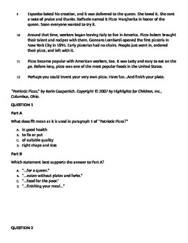 3rd Grade Reading PARCC practice