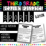 3rd Grade Reading Passages & Comprehension Questions - Sports Edition