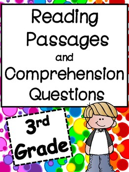 3rd Grade Reading Passages and Comprehension Questions