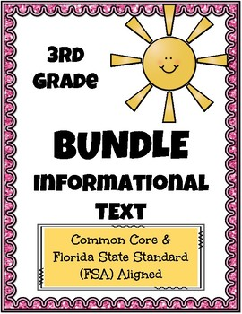 3rd Grade FSA Reading Practice Informational Bundle