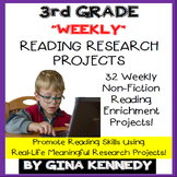 3rd Grade Reading Projects, Weekly Enrichment All Year, PD