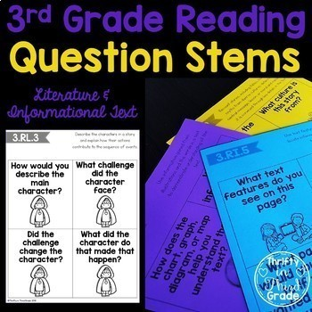 3rd Grade Reading Question Stems